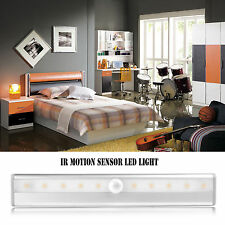 Rechargeable Magnetic IR Motion Sensor LED Wall Lights Night Lamp Cool/Wa White