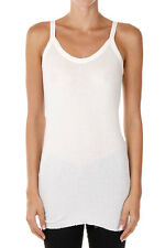 RICK OWENS New woman Milk TANK Angora Nylon Top Made in Italy NWT