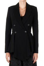 GIVENCHY New Women Black Lined Two Buttons Blazer Jacket Made in Italy NWT