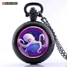 Antique NROL-39 Octopus Locket Pocket Watch Quartz Pendant Necklace Gift New