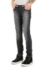 L(!)W BRAND Men Black Stretch Denim Jeans Made in Italy New with Tag