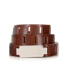 MARTIN MARGIELA MM11 Men Brown Perforated Leather Belt Made in Italy New