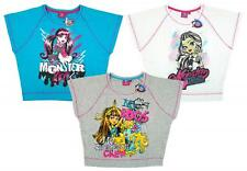Girls Monster High Skeleton Crew PACK OF 3 Batwing T-Shirt Top Tee 8 to 14 Years
