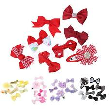 8x Girls Baby Kids Children Hair Accessories Bow Snap Pins Clips Slides