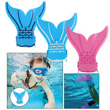 Fit for Child Fin Mermaid Monofin Pink/Blue/White Mermaid Swimming Tail Flippers