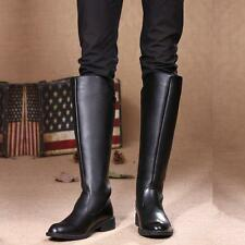 2016 Rock COOL MEN High Knee Equestrian Riding Army Black Boys Long Boot US 11