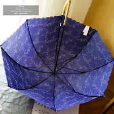 Creative Princess Long Handle Parasol Fashion Printing Anti UV Sun Rain Umbrella