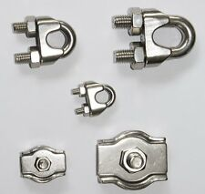 Wire Cable Clips Clamping Ring Clamp Rope / Stainless Steel