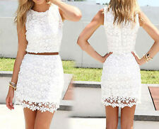 Spring Summer Beautiful Lace Hip Skirt Vest Skirt Dress Decoration Body Package