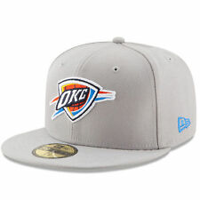 New Era Oklahoma City Thunder Gray/Blue State Stare 59FIFTY Fitted Hat
