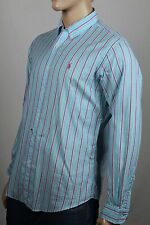 Ralph Lauren Blue Pink Striped Classic Dress Shirt Pink Pony NWT