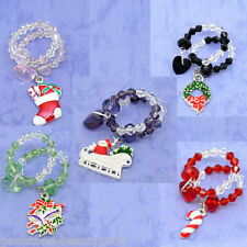 Wholesale Hot Mixed Christmas Wine Glass Charms Marker Table Decorations 50x25mm