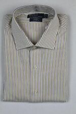 Polo Ralph Lauren White Yellow Blue Stripe Custom Regent Dress Shirt NWT