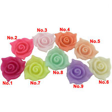 15pcs 21mm Loose Jewelry Findings Flat Flower Plastic Spacer Acrylic Beads Charm