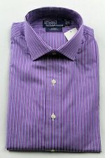 Polo Ralph Lauren Purple Blue Stripe Regent Custom Dress Shirt NWT