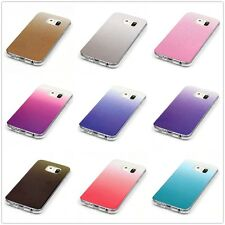 Bling Glitter Gradient Ombre TPU Clear Soft Back Case Cover For Samsung iPhone 7