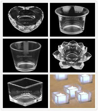 1pcs Glass Candle Holder Tealight Candle Holder Candlestick Wedding Home Decor