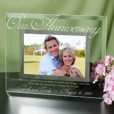 Personalized Glass Anniversary Picture Frame Our Anniversary Photo Frame Gift