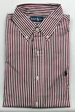 Ralph Lauren White Red Black Custom Dress Shirt NWT