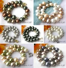 """X0172 big 17"""" 19mm rice south sea shell pearl necklace"""