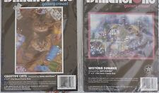 GALLERY CREWEL KIT FROM DIMENSIONS*WISTERIA SUMMER* CREATIVE CATS*