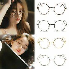 Clear Round Classic Unisex Metal Frame Lens Glasses Nerd Spectacles Eyeglass CHI
