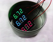 DC 3.5-30V Waterproof Digital RGB LED Voltmeter Volt Meter Panel Mount 0.56""