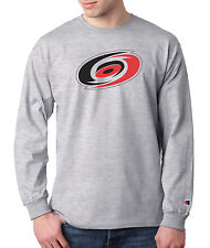 Carolina Hurricanes Champion LONG SLEEVE T-Shirt Mens Tagless T Shirt