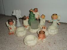 PARTYLITE U-CHOOSE LITTLE ANGELS VOTIVE & TEALIGHT CHERUB CANDLE HOLDERS SNUFFER