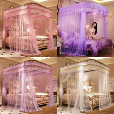 Romantic Mosquito Net + Bed Canopy Bed Curtain Stainless Steel Tube Rail Set HOT