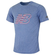 New Balance 2016 Mens Short Sleeve Heather Graphic T Shirt Gym Training Tech Tee