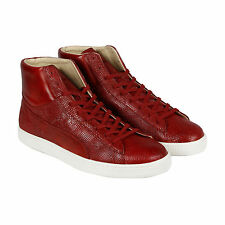 Puma Puma States Mid Mii Mens Red Leather High Top Lace Up Sneakers Shoes