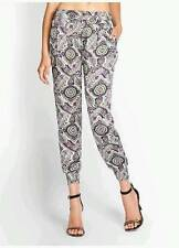 NEW WOMENS GUESS by MARCIANO SUMMER PAISLEY PRINT SMOCK CROP SILKY DRESS PANTS S