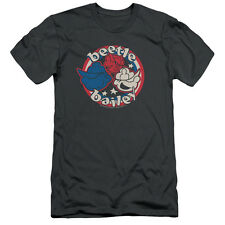 Beetle Bailey Red White And Bailey Mens Slim Fit Shirt