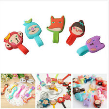 New 2Pcs Lovely Cartoon Animal Earphone Wrap Cord Cable Holder Winder Organizer