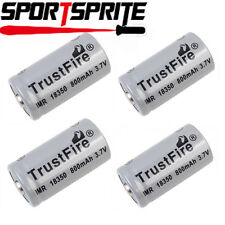 1/2/4pcs TrustFire IMR18350 3.7V 800mAh Rechargeable Li-ion Sharp Head Battery