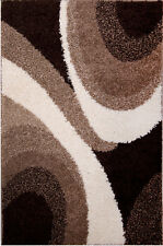 Rugs Area Rug Multi-Brown Modern Area Shag Rug Contemporary Swirls Shaggy Carpet