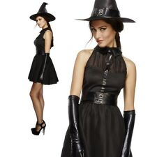 Bewitching Vixen Ladies Halloween Black Witch Fancy Dress Outfit 8-18
