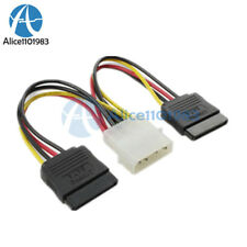 1/5/10 4 Pin IDE Molex to 2 Serial ATA SATA Hard Drive Power Adapter Cable Wire
