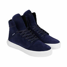Supra Camino Mens Blue Suede High Top Lace Up Sneakers Shoes