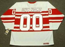 "DETROIT RED WINGS 1940's CCM Vintage Throwback ""Customized"" NHL Hockey Jersey"