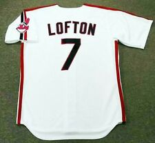 KENNY LOFTON Cleveland Indians 1993 Majestic Throwback Home Baseball Jersey