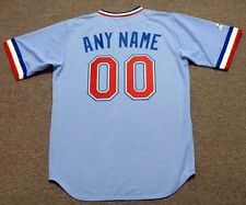 "TEXAS RANGERS 1980's Majestic Cooperstown Away ""Customized"" Baseball Jersey"