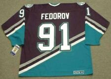 SERGEI FEDOROV Anaheim Mighty Ducks 2005 CCM Throwback Away NHL Hockey Jersey