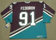 SERGEI FEDOROV Anaheim Mighty Ducks 2004 CCM Throwback Away NHL Hockey Jersey