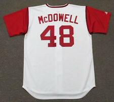 SAM McDOWELL Cleveland Indians 1969 Majestic Cooperstown Home Baseball Jersey