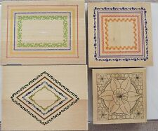 Papermania/Do Crafts Large Rubber Stamps Assorted Designs Wood Mounted NEW