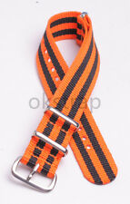 18mm 20mm 22mm Nylon Watch band watch strap wach 3orange2balck color