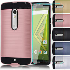 Hard Phone Cover Case + Screen Film Protector for Motorola Droid Maxx 2 / X Play
