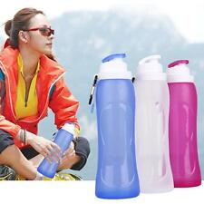 500ML Portable Silicone Foldable Water Bottle Cycling Sports Camping Hiking